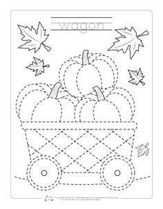 8 free printable thanksgiving tracing worksheets