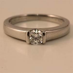 18 carat white gold 033 carat diamond engagement ring With 18 carat wedding rings