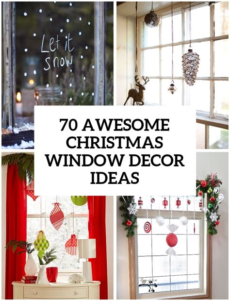 awesome christmas window decor ideas digsdigs