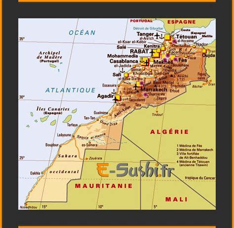 Carte Du Maroc Avec Les Principales Villes by Carte Du Maroc Images Arts Et Voyages