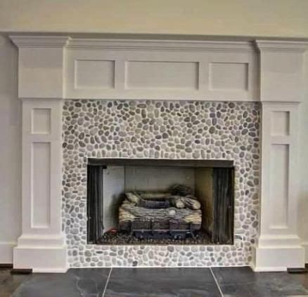 fireplace pebbles mosaic tile fireplace popular uses pebble tile