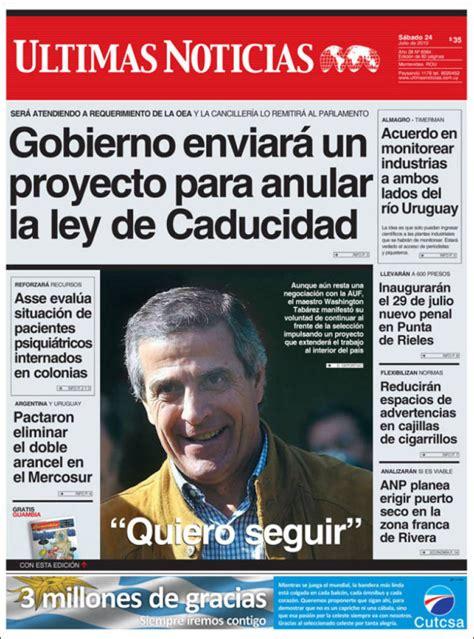 Newspaper Últimas Noticias (Uruguay). Newspapers in ...