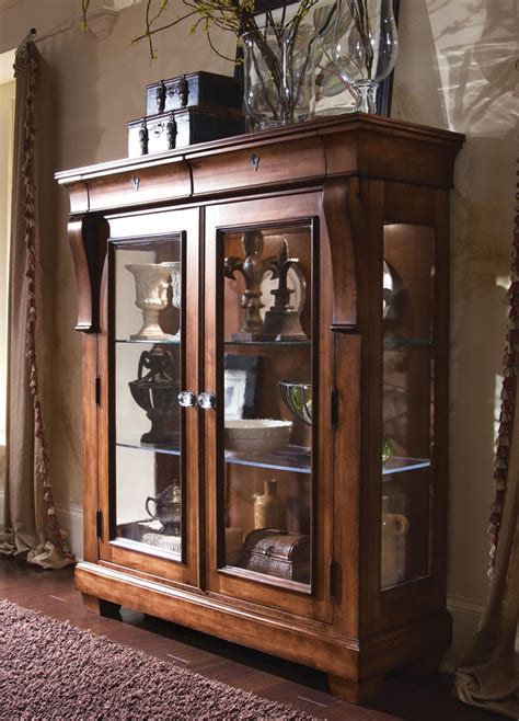 kincaid tuscano solid wood display cabinet