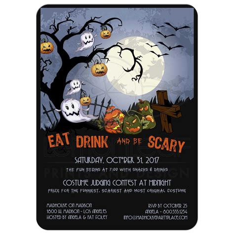 Eat Drink and Be Scary A Spooky Graveyard Halloween Party