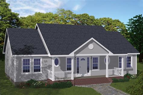 sq ft simple ranch house plan affordable bed bath