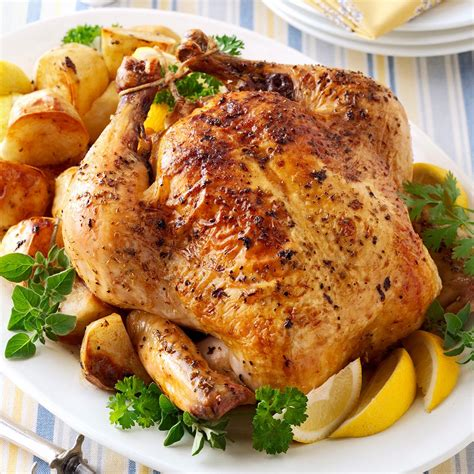 Greek Roasted Chicken And Potatoes Recipe  Taste Of Home