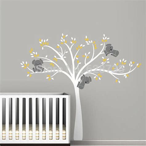 stickers arbre chambre fille large size tree wall sticker for koala