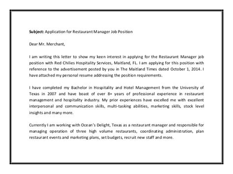 Write Resumes Maitland by Restaurant Manager Cover Letter Sle Pdf