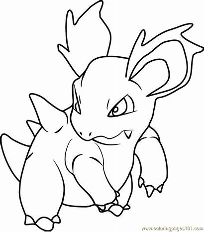 Pokemon Coloring Nidorina Pages Printable Coloringpages101 Adults