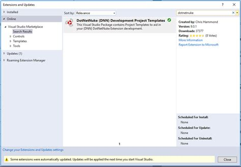 visual studio templates visual studio 2017 development templates for dnn dotnetnuke gt dnn software