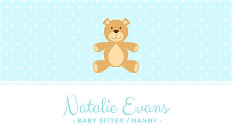 customize  babysitting business card templates