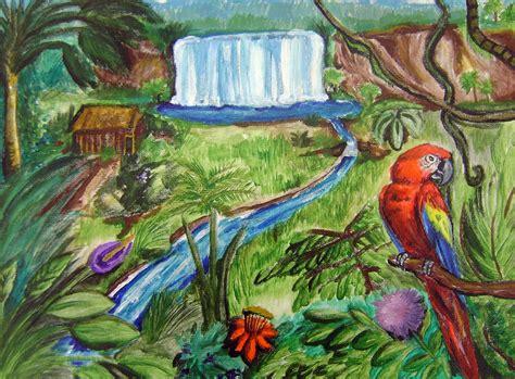 jungle watercolor paintings ms turnbulls student art