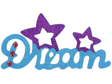 Plaid Dream Glitter & Rhinestone Wood Word