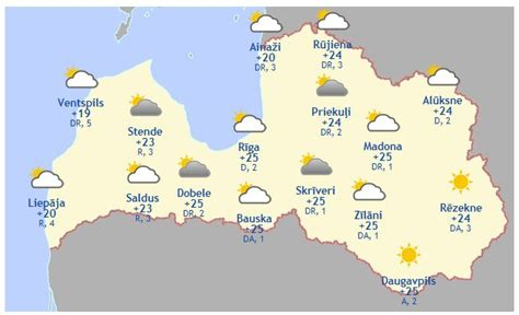 Laika prognoze šodienai, 15. jūnijam - Aktuāli - epadomi.lv