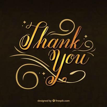 Elegant Elegante Thank Lettering Gracias Fondo Dorado