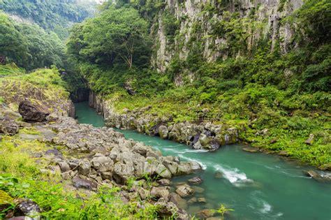 Takachiho Gorge Landscape And River In Miyazaki Kyushu