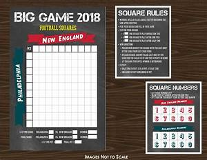 The Big Game 2018 Football Grid Or Squares Game Chalk