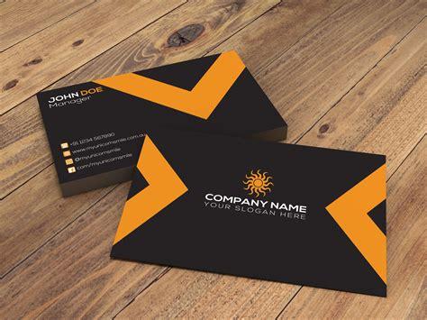 unique business card design cmyk setting