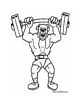 Weightlifting Coloring Lifting Weights Colormegood Sports sketch template
