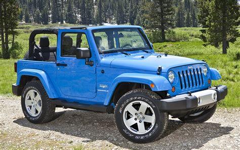 Wallpaper Jeep Wrangler Light Blue Cars