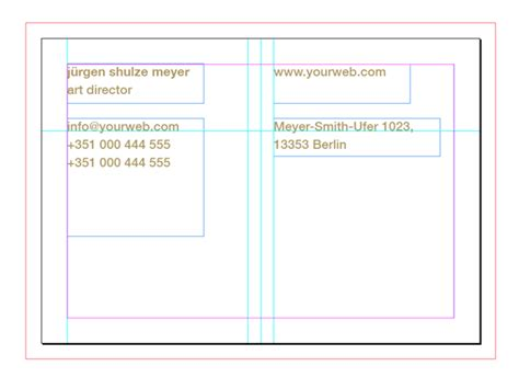 indesign business card template how to customise a business card template in adobe indesign
