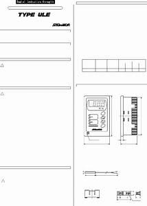 Saginomiya Type Ule Thermostat Instruction Manual Pdf View