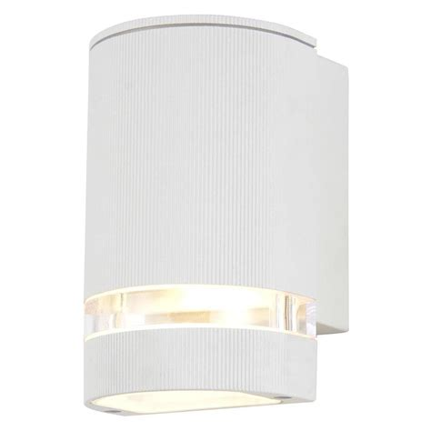 helo 1 light outdoor grooved down wall light white