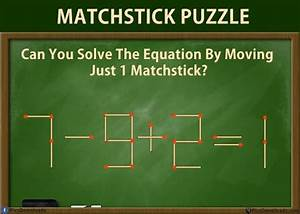 Solve These 5 Difficult Matchstick Puzzles Riddles  With