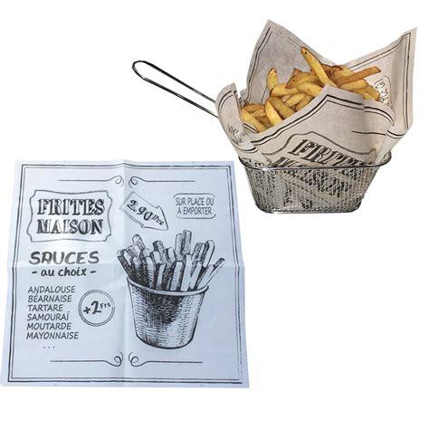 papier absorbant cuisine 100 feuilles papier absorbant frites et burgers
