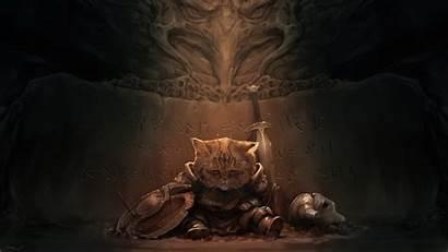 Skyrim Elder Scrolls Cat Warrior Lirik Fantasy