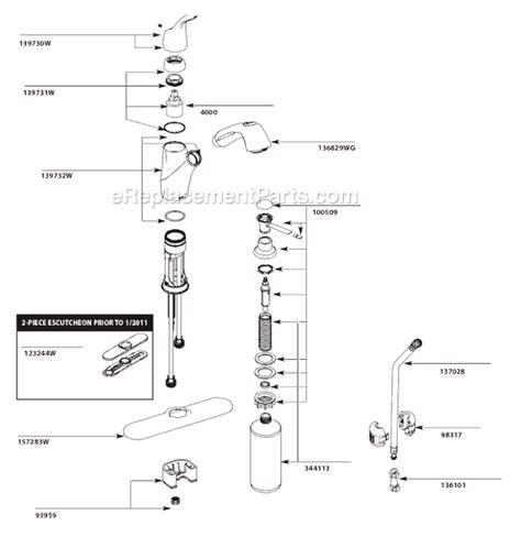 Moen Caw Parts List Diagram Ereplacementparts