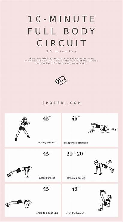 Equipment Circuit Workout Minute Spotebi Exercises Fitness