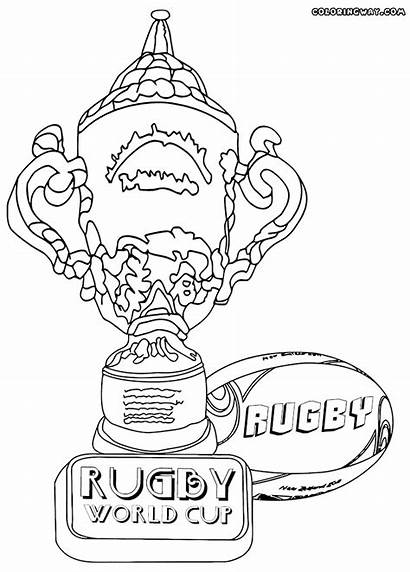 Rugby Cup Coloring Pages Winner Colorings