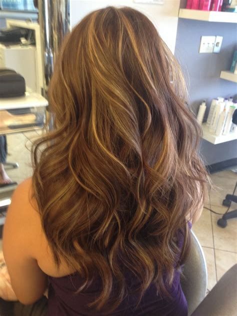 brown hair with gold highlights hairstyles ideas