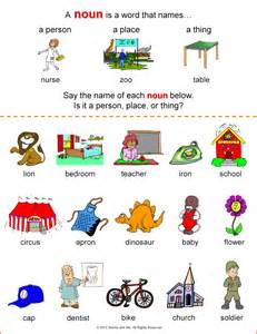 nouns for worksheets nonna and me clown town crown learning about nouns