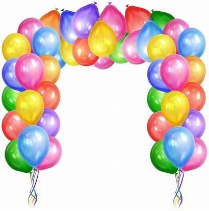 Balloons Clip Transparent Arch Clipart Decorative