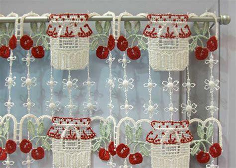macrame rideau cuisine rideaux macramé cantonnière en bande rideaux de