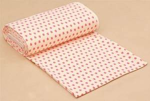beige cute neon pink strawberry knit fabric Japan Kawaii