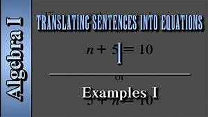 Translate The Sentence Into An Equation Calculator