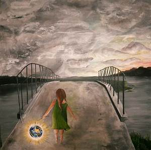 Kleine Fliegen In Der Erde : bild acrylmalerei br cke erde himmel von die seilt nzerin bei kunstnet ~ Frokenaadalensverden.com Haus und Dekorationen