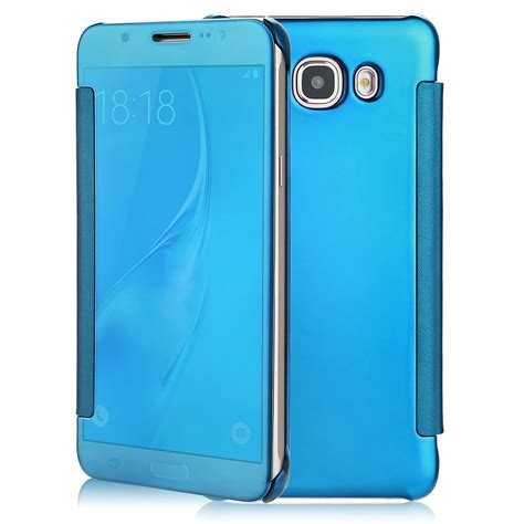 flip cover samsung galaxy 2 for samsung galaxy j7 mirror clear view window smart