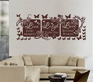 live laugh love wall decor inspirations homestylediarycom With live laugh love wall decal