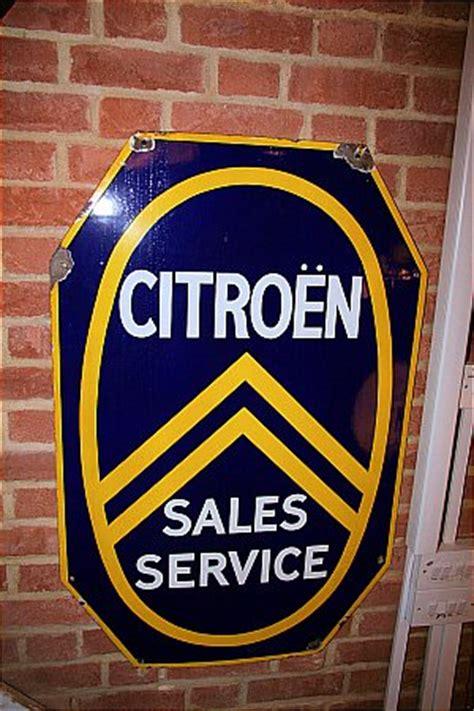 Citroen Service by Enamel Signs Petrol Pumps Petroliana Automobilia