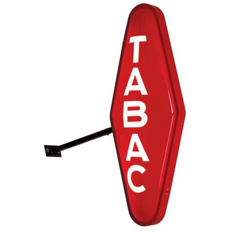 enseigne bureau de tabac carotte tabac lumineuse promodern