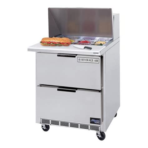 27 inch sandwich prep table beverage air sped27 12m a 27 in 2 drawer mega top