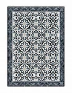 Tapis Carreaux De Ciment Saint Maclou : tapis vinyl carreaux de ciment couloir ~ Nature-et-papiers.com Idées de Décoration
