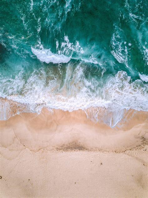 wallpaper  ocean aerial view surf