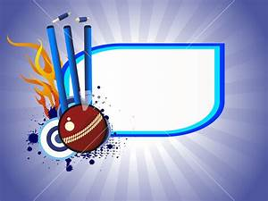 Vector Illustration Of Cricket Background Stock Image