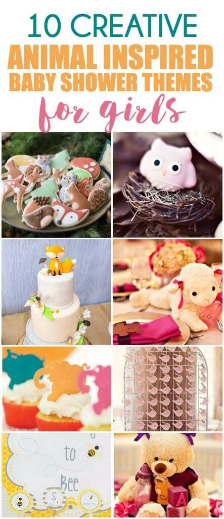 animal themed baby shower decorations 50 girl baby shower themes play party pin