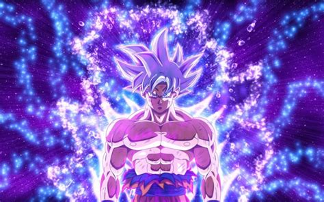 wallpapers ultra instinct goku purple rays son